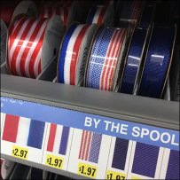 Patriotic Ribbon Shelf Management System