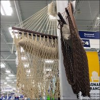 Rope Hammock Retail Employs Support Columns