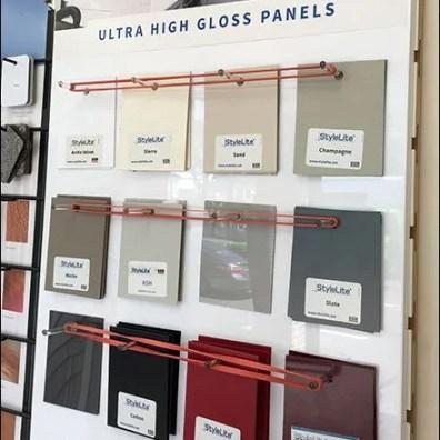 Boral Stone Pegboard J Hook Sample Hanger Fixtures Close Up