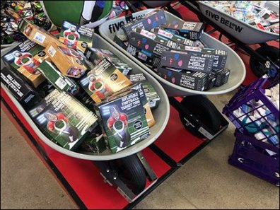 Wheelbarrow Bulk Bins In Retail Lineup
