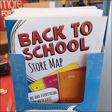 Back-To-School Shopping List As Store Map