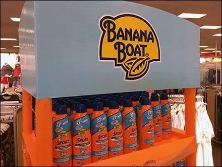 Hawaiian Tropic Banana Boat Tower In Bright Orange