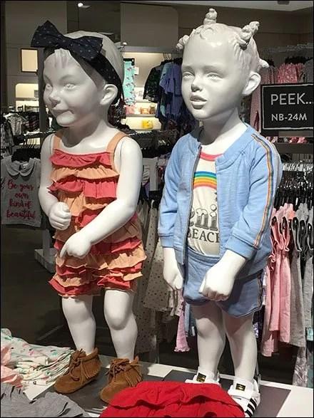 Summer Children's Hairdos For Mannequins