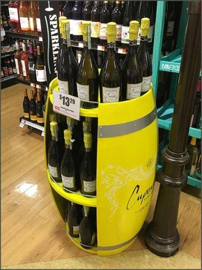 Cupcake Wine Barrel Open Sided Display 3