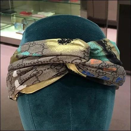 Gucci Headform Headband Merchandising
