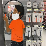 Harry's Razor Endcap Goes All Out