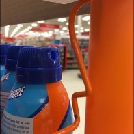 Overhead-Mount Productstop for Sunscreen