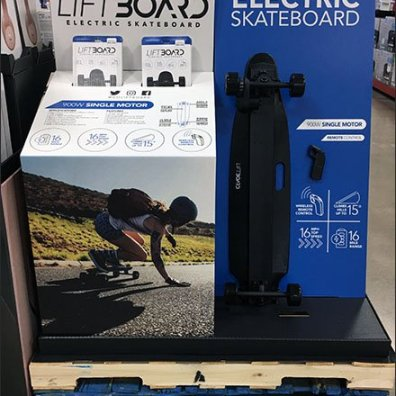 LiftBoard Electric Skateboard Display