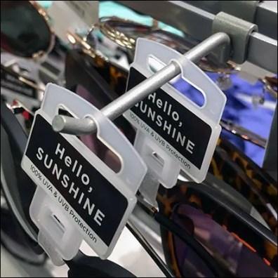 Sunglasses Saddle-Mount Display Hook