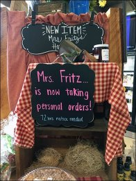 Mrs. Fritz Taking Personal Orders Now In Gingham 2