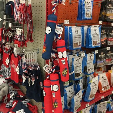Patriotic Pet Toys Strip Merchandiser