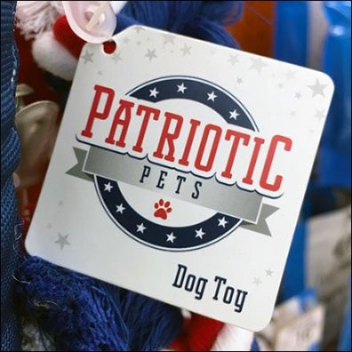 Patriotic Pet Toys Strip Merchandiser Feature