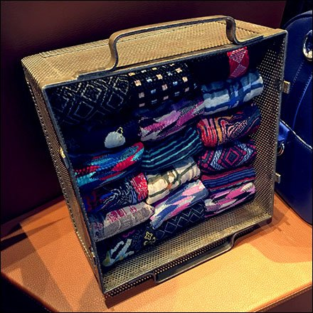 Robert Graham Perforated Sock Tray With Handles