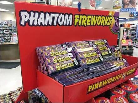 Fireworks Island Display in Corrugated