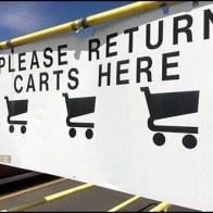Please Return Shopping Carts Here Billboard