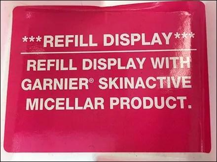Garnier Micellar Water Refill Instructions