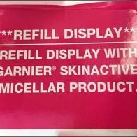 Garnier Micellar Water Refill Label