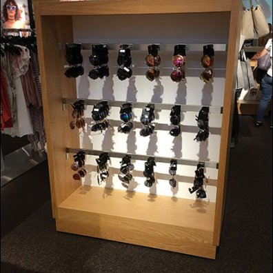 Sunglasses Saddle-Mount Display Hook for Bar