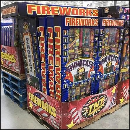 Trailer-Load Fireworks Merchandising