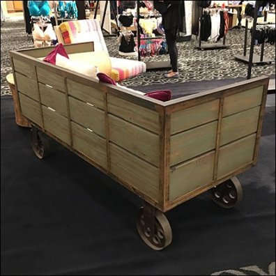 Vintage Transport Cart As Retail Amenity Feature
