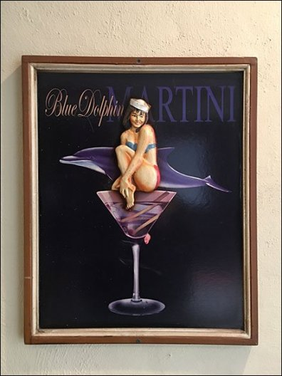 Framed Bas Relief Martini Promotion Sign