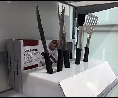 Brookstone BBQ Grilling Utensil Try Me Display