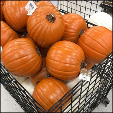 Fall Decor Prop Pumpkin Bulk Bin Feature