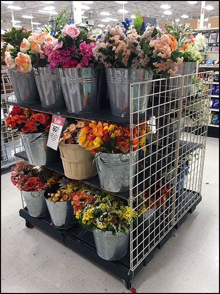 Fall Floral Galvanized Bucket Merchandising