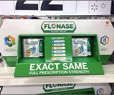 Flonas Corrugated Hexagonal Shelf Display