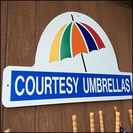 Rainy Day Shopping With Courtesy Umbrellas