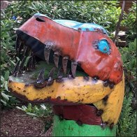 Garden Center Dinosaur Scrap Metal Merchandising