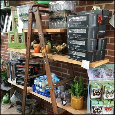 Ladder Shelf Outfitting At The Garden Center