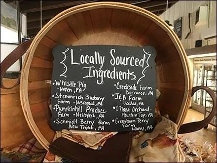 Locally Sourced Ingredients Bushel Basket