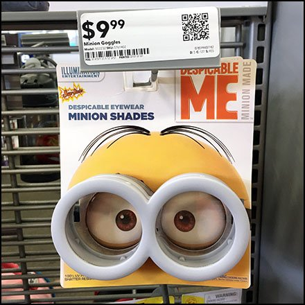 Minion Shades Eyewear Grid Scan Hook Feature