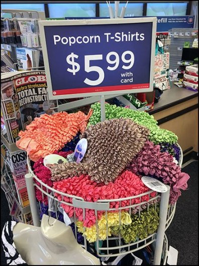 Popcorn T-Shirt Merchandising Tower