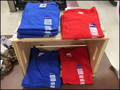 Wood Crate Merchandising For T-Shirts