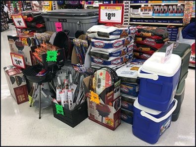 Grilling Goodies Truckload Sale at Store Entry