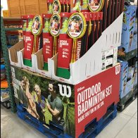 Wilson Branded Badminton Corrugated Display