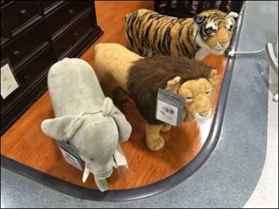Plush Animals Define Territory at Babies R Us