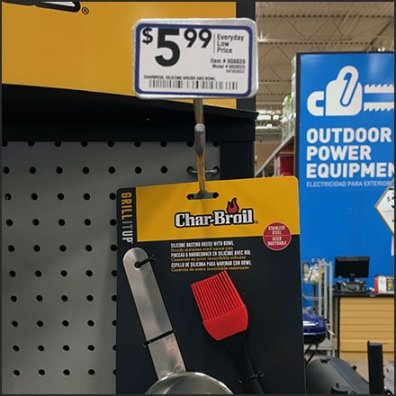 Char-Broil Basting Kit Metal Plate Scan Hook Feature