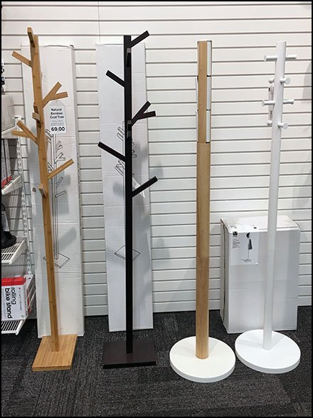Container Store Collection of Clothes Tree Store Fixtures
