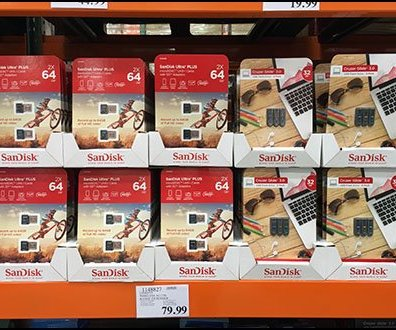 SanDisk Dual-Use Pallet Rack Merchandising