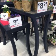 Curved-Leg Trestle Table Floral Display