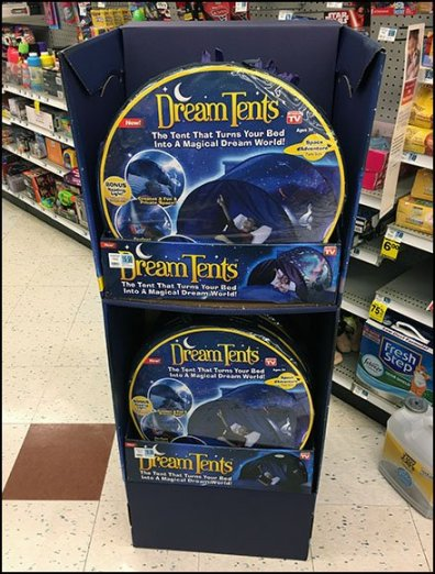 Dream Tents Freestanding In-Aisle Display