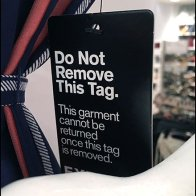 Express Do-Not-Remove Return Tag Policy