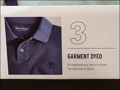 Polo Shirt Shelf-Edge Style Definitions