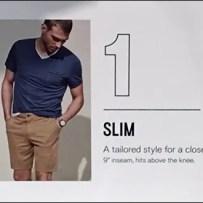 Express Shorts Shelf-Edge Style Definitions