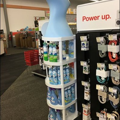 Febreze Bottle as Display Tower