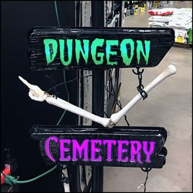 Halloween Directional Navigation Signs In-Store