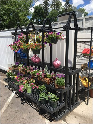 Floral Dunnage Display or Bench Rack